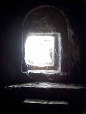 inside tomb