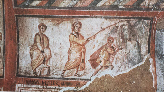water-from-the-rock-moses-struck-the-rockroman-catacombs-4th-century-ad