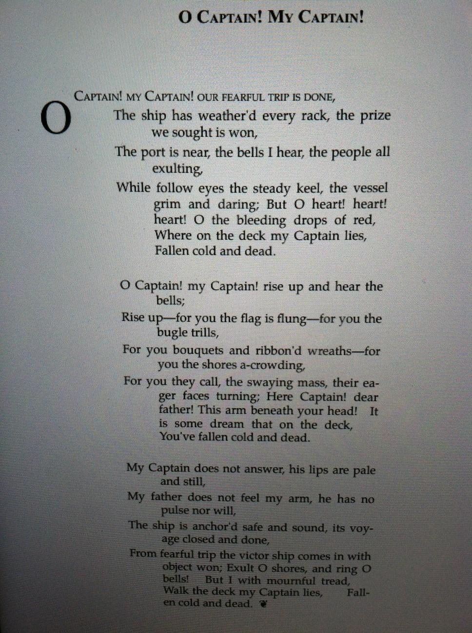 O Captain! My Captain! | wordhavering