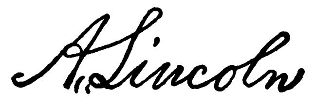 A_Lincoln_signature