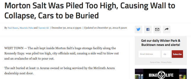 Morton salt spill
